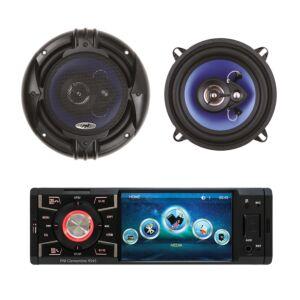 Csomag MP5 autós lejátszó PNI Clementine 9545 + koaxiális autós hangszórók PNI HiFi500, 100W, 12,7 cm