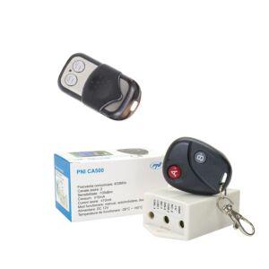 Relécsomag PNI CA500 távirányítóval 1 vagy 2 garázskapu, kapu, korlát + kiegészítő távirányító