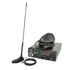CB PNI ESCORT CB rádióállomás CB 8024 ASQ 12 / 24V + CB PNI Extra 45 mágneses antenna