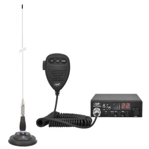 Kit CB rádió CBI ESCORT HP 8000L ASQ + CB antenna PNI ML100