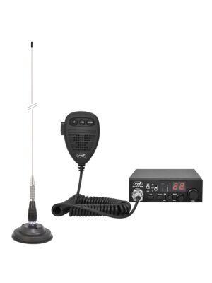 Kit CB rádió CBI ESCORT HP 8000L ASQ + CB antenna PNI ML100