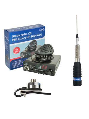 CBR CBI állomás CBI ESCORT CB 8024 ASQ + CB PNI ML160 antenna T941 támogatással